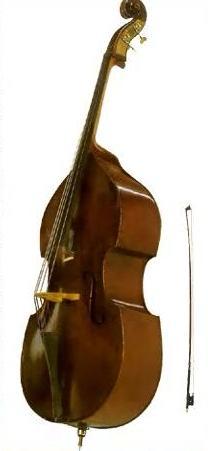 Контрабас- самый большой по размеру и самый низкий по звучанию инструмент из семейства струнных смычковых.