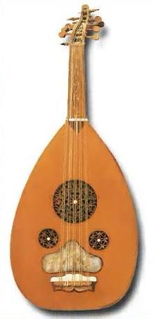 Лютня- старинный струнный щипковый инструмент.